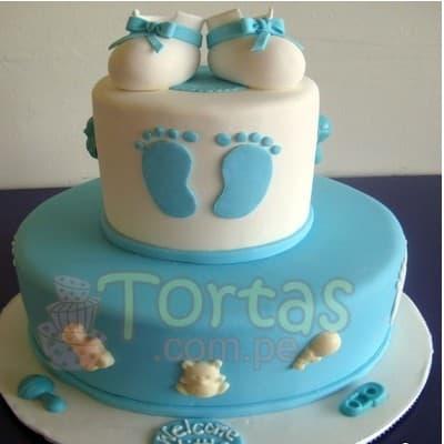 I-quiero.com - Torta Baby Shower 10 - Codigo:WBS10 - Detalles: Deliciosa torta de queque De Vainilla   ba�ado en manjar blanco, forrado y decorado en masa el�stica. De las medidas de 25cm. De di�metro y 15cm. De di�metro. Rinde aproximadamente para 40 porciones.   - - Para mayores informes llamenos al Telf: 225-5120 o 476-0753.