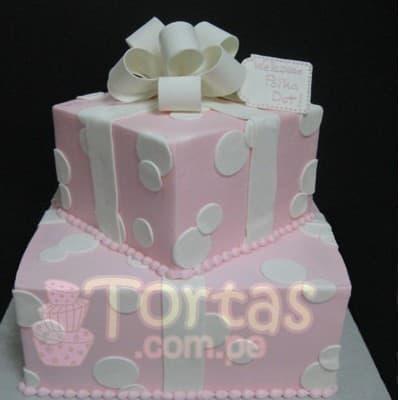 I-quiero.com - Torta Baby Shower 13 - Codigo:WBS13 - Detalles: Deliciosa torta de queque De Vainilla   ba�ado en manjar blanco, forrado y decorado en masa el�stica. De las medidas primer piso 20x20 y 2do de  15x15cm. Rinde aproximadamente para 35 porciones.   - - Para mayores informes llamenos al Telf: 225-5120 o 476-0753.