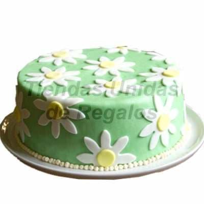Torta Flores - Codigo:WDA03 - Detalles: Delicioso queque ingles relleno con exquisita fruta confitada y pasas, el decorado es a base de masa elástica.Mide 20cm de diametro. - - Para mayores informes llamenos al Telf: 225-5120 o 4760-753.