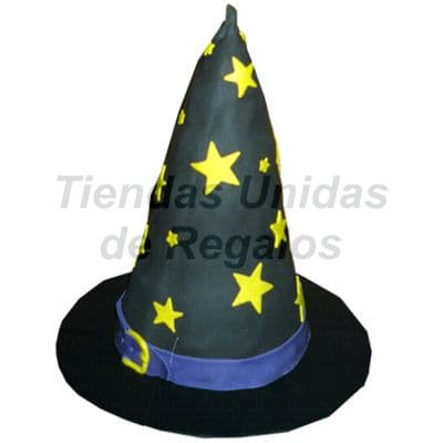Torta  Sombrero de Bruja - Codigo:WDA11 - Detalles: Delicioso queque ingles relleno con exquisita fruta confitada y pasas, decorado finamente en masa elástica. 15cm de diametro. - - Para mayores informes llamenos al Telf: 225-5120 o 4760-753.