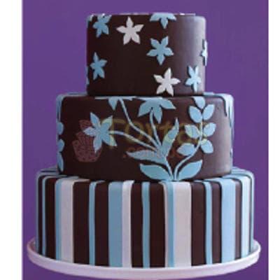 Torta Dama 19 - Codigo:WDA19 - Detalles: Deliciosas  torta relleno con exquisita fruta confitada y pasas,  decorado  finamente en masa elástica, Med. 1er nivel 25Cmt de diametro,2do nivel 20Cmt de diametro,3er nivel 15Cmt de diametro. - - Para mayores informes llamenos al Telf: 225-5120 o 4760-753.
