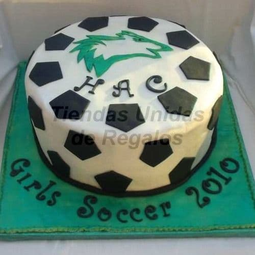 Deliregalos.com - Tortas Football 09 - Codigo:WFU09 - Detalles: Keke De Vainilla  , el keke esta finamente decorado en masa el�stica, Medidas: 25cm de diametro.  - - Para mayores informes llamenos al Telf: 225-5120 o 476-0753.