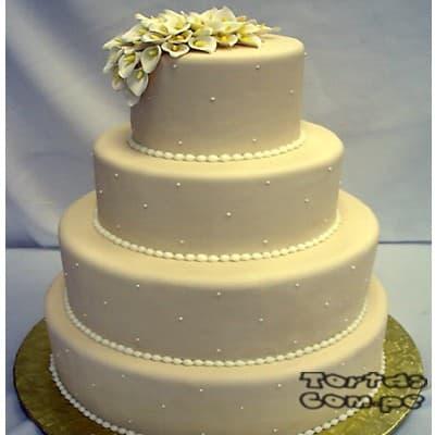 Tortas.com.pe - Torta Matrimonio 04 - Codigo:WMA04 - Detalles: Elegante Torta hecho a base de queque De Vainilla   y , hecho finamente con masa el�stica y cuidadosamenete decorado,para esa fecha tan especial. Rinde aprox. para 115 a 120 porciones, este producto se realiza con 15 d�as de anticipaci�n. Cualquier modificaci�n que desee hacer es previa coordinaci�n. - - Para mayores informes llamenos al Telf: 225-5120 o 476-0753.