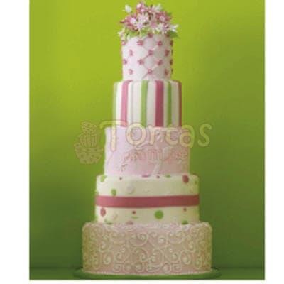Torta Matrimonio 13 - Codigo:WMA13 - Detalles: Delicioso queque ingles relleno  de frutas secas, pasas y  decorada finamente en masa elástica, MED. 1er Nivel  35Cmt , 2do Nivel 32Cmt (Importante, el 1er y segundo nivel es elaborado en maqueta), 3er Nivel 25Cmt de diámetro, 4to Nivel 20Cmt, 5to Nivel  15Cmt de diámetro.Este producto  se realiza con 20días de anticipación, cualquier modificación que desee realizar  es previa coordinación con la central.  - - Para mayores informes llamenos al Telf: 225-5120 o 4760-753.