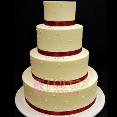 Torta Matrimonio 15 - Codigo:WMA15 - Detalles: Elegante Torta hecho a base de queque ingles con relleno de frutos secos, pasas y hecho finamente con masa elástica para ese día tan especial. Rinde aprox. para 115 a 120 porciones, este producto se realiza con 15 días de anticipación. Cualquier modificación que desee hacer es previa coordinación.    - - Para mayores informes llamenos al Telf: 225-5120 o 4760-753.