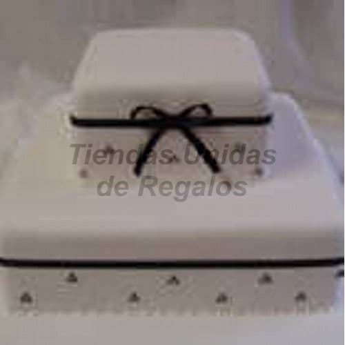 Tortas.com.pe - Torta Matrimonio 20 - Codigo:WMA20 - Detalles: Delicioso queque De Vainilla   y , decorada finamente en masa el�stica, MED. 1er 25Cmt x 25Cmt, 2do Nivel  15Cmt x 15Cmt . Este producto  se realiza con 15  d�as de anticipaci�n, cualquier modificaci�n que desee realizar  es previa coordinaci�n con la central.  - - Para mayores informes llamenos al Telf: 225-5120 o 476-0753.