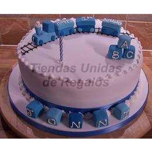 Lafrutita.com - Torta Bebe 03 - Codigo:WNA03 - Detalles: Torta a base de keke De Vainilla con medida de 25 cm. Todo el decorado esta hecho a base de masa el�stica. No incluye Nombre en azucar. Incluye Modelado de Tren en la parte superior  3 cubos de azucar en la parte superior y 5 cubos con hasta 1 letra en cada uno. Incluye masa elastica en la base - - Para mayores informes llamenos al Telf: 225-5120 o 476-0753.