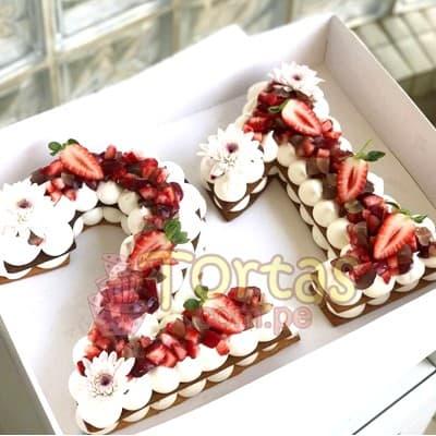 Tortas.com.pe - Tarta Letras y Numeros 10 - Codigo:WNU10 - Detalles: Deliciosos kekes de vainilla relleno con capas de buttercream incluye tres capas de keke y dos de buttercream. Incluye decoracion segun imagen. Letra Personalizable. Tama�o 20x15cm.  cada uno - - Para mayores informes llamenos al Telf: 225-5120 o 476-0753.
