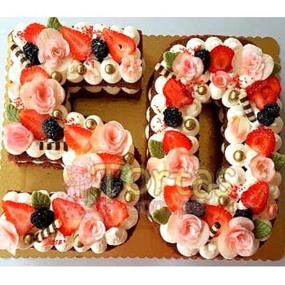 Tortas.com.pe - Torta Letras y Numeros 17 - Codigo:WNU17 - Detalles: Deliciosos kekes de vainilla relleno con capas de buttercream incluye tres capas de keke y dos de buttercream. Incluye decoracion segun imagen. Letra Personalizable. Tama�o 20x30cm.  cada uno - - Para mayores informes llamenos al Telf: 225-5120 o 476-0753.