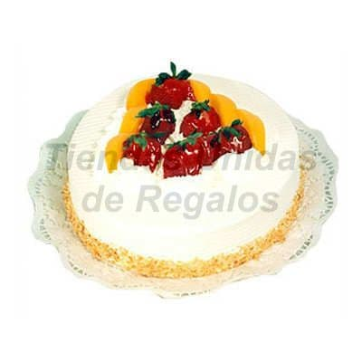 Lafrutita.com - Torta Chantilly 03 - Codigo:WPS05 - Detalles: Torta de Chantilly , adornado con tajadas de durasno.        - - Para mayores informes llamenos al Telf: 225-5120 o 476-0753.