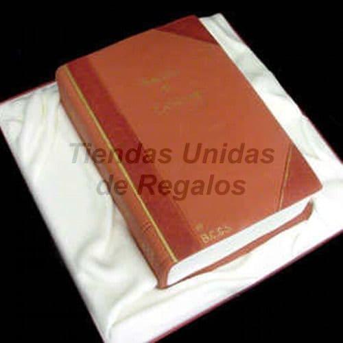 Diloconrosas.com - Torta libro - Codigo:TRR26 - Detalles: Delicioso queque De Vainilla   y decorado finamente con masa el�stica de flores multicolores.El primer nivel mide:20 x 30cm. - - Para mayores informes llamenos al Telf: 225-5120 o 476-0753.