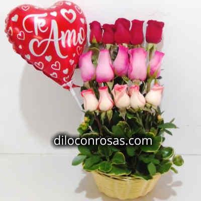 Arreglo de Rosas 06 - Codigo:XBR06 - Detalles: Lindo arreglo compuesto por 18 preciosas rosas importadas, plantas y follajes de estacion, todo en una linda cesta de mimbre, incluye una tarjeta de dedicatoria. - - Para mayores informes llamenos al Telf: 225-5120 o 4760-753.
