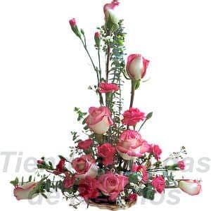 Arreglo de Rosas 12 - Codigo:XBR12 - Detalles: Precioso detalle compuesto por 8 rosas importadas, claveles, astromelias, plantas y follajes de estación, todo en una linda base de mimbre, incluye una tarjeta de dedicatoria.  Este producto deberá ser ordenado con 2 dias utiles de anticipación. Si el pedido es realizado el mismo día  nuestra tienda podrá cambiar el color de las rosas. - - Para mayores informes llamenos al Telf: 225-5120 o 4760-753.
