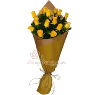Arrleglo de rosas  40 - Codigo:XBR40 - Detalles: Lindo ramo de rosas compuesto de 16 finas rosas importadas, vienen en tono amarillo. Incluye tarjeta de dedicatoria. Este producto deberá ser ordenado con 1 día útil de anticipación. Si el pedido es realizado el mismo día, nuestra tienda podrá cambiar el color de las rosas. El ramo viene en papel especial de color e incluye papel celofan en la parte externa - - Para mayores informes llamenos al Telf: 225-5120 o 4760-753.