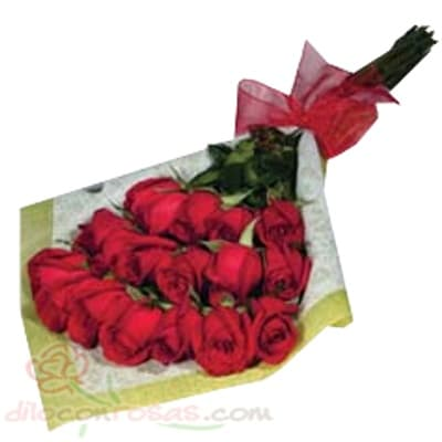Arreglo de rosas 46 - Codigo:XBR46 - Detalles: Lindo ramo de rosas compuesto de 18 finas rosas importadas, vienen en tono rojo. Incluye tarjeta dedicatoria. Este producto debe ser pedido con 1 día útil de anticipación. El ramo viene en papel especial de color e incluye papel celofan en la parte externa - - Para mayores informes llamenos al Telf: 225-5120 o 4760-753.