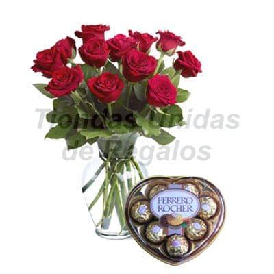 Florero 14 - Codigo:XFR14 - Detalles: Elegante florero de 12 rosas importadas, caja de chololate Ferrero Rocher,incluye tarjeta de dedicatoria. Este pedido se realiza con 24 horas de anticipaci�n. - - Para mayores informes llamenos al Telf: 225-5120 o 4760-753.