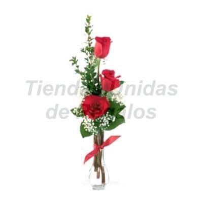 Florero 16 - Codigo:XFR16 - Detalles: Elegante florero de 3 rosas importadas, plantas y follaje de estaci�n, incluye tarjeta de dedicatoria. Este pedido se realiza con 24 horas de anticipaci�n. - - Para mayores informes llamenos al Telf: 225-5120 o 4760-753.