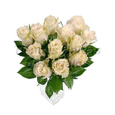 Florero 20 - Codigo:XFR20 - Detalles: Elegante florero de 12 rosas blancas importadas, plantas de decoraci�n, incluye tarjeta de dedicatoria. Este pedido se realiza con 24 horas de anticipaci�n. - - Para mayores informes llamenos al Telf: 225-5120 o 4760-753.