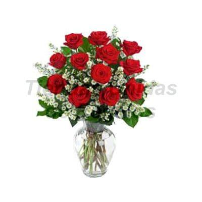 Florero 23 - Codigo:XFR23 - Detalles: Elegante florero de 12 rosas rojas importadas, plantas de decoraci�n,  incluye tarjeta de dedicatoria. Este pedido se realiza con 24 horas de anticipaci�n. - - Para mayores informes llamenos al Telf: 225-5120 o 4760-753.