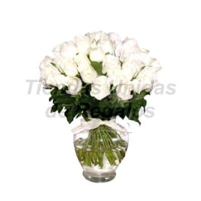 Florero 24 - Codigo:XFR24 - Detalles: Elegante florero de 24 rosas blancas importadas, incluye tarjeta de dedicatoria. Este pedido se realiza con 24 horas de anticipaci�n. - - Para mayores informes llamenos al Telf: 225-5120 o 4760-753.