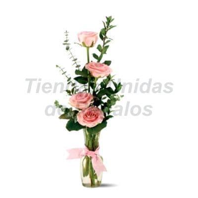 Florero 25 - Codigo:XFR25 - Detalles: Elegante florero de 4 rosas rosadas importadas, incluye tarjeta de dedicatoria. Este pedido se realiza con 24 horas de anticipaci�n. - - Para mayores informes llamenos al Telf: 225-5120 o 4760-753.