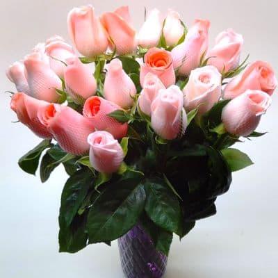 Florero 30 - Codigo:XFR30 - Detalles: Elegante florero de 24 rosas en tono rosado importadas, lazo decorativo, incluye tarjeta de dedicatoria. Este pedido se realiza con 24 horas de anticipaci�n. - - Para mayores informes llamenos al Telf: 225-5120 o 4760-753.